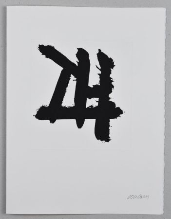 Engraving Soulages - Eau-forte n°XXXIV