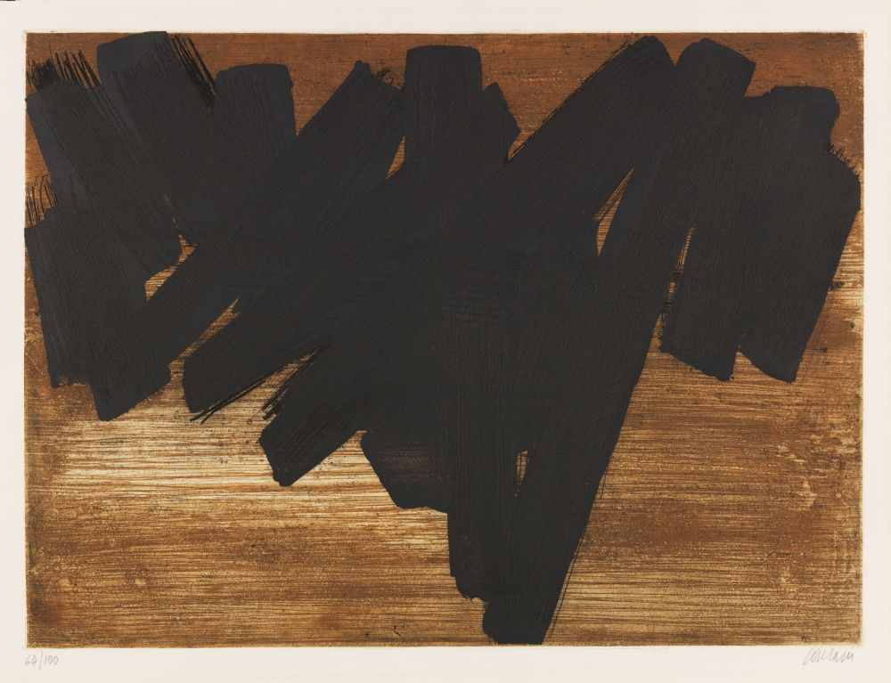 Etching And Aquatint Soulages - Eau-forte V