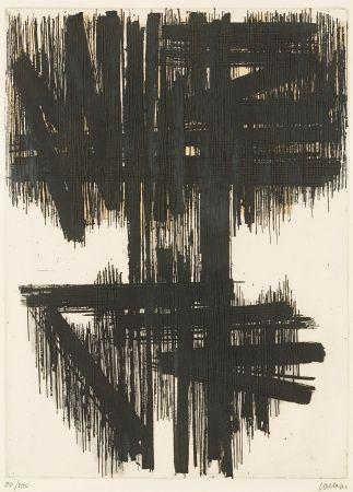Engraving Soulages - Eau-forte VI