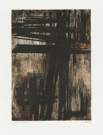 Etching Soulages - Eau-Forte VII