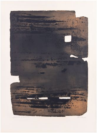 Engraving Soulages - Eau-forte XV