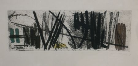 Etching And Aquatint Hartung - Eau forte g3