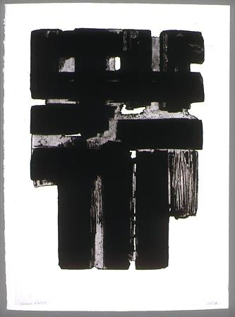 Etching And Aquatint Soulages - Eau forte n° X b