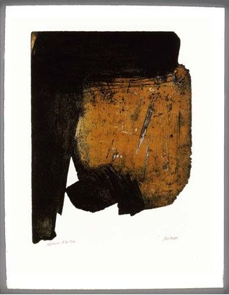 Etching And Aquatint Soulages - EAU FORTE  XIV