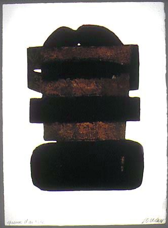 Etching And Aquatint Soulages - EAU FORTE XXIV
