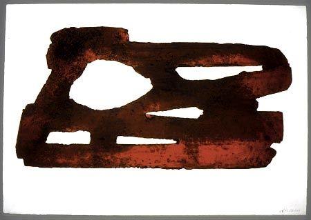 Etching And Aquatint Soulages - EAU FORTE XXVII