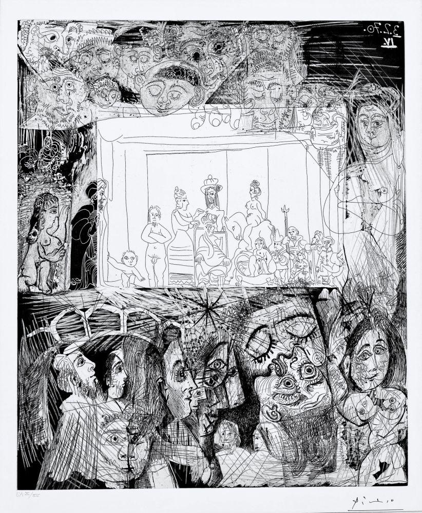 Aquatint Picasso - Ecce Homo, d'Apres Picasso