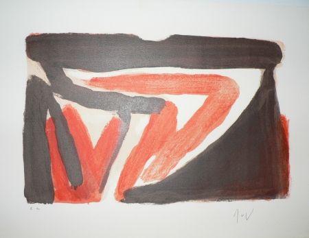 Lithograph Van Velde - ECHO