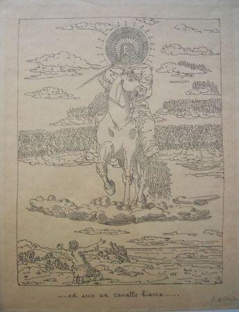 Lithograph De Chirico - Ed ecco un cavallo bianco
