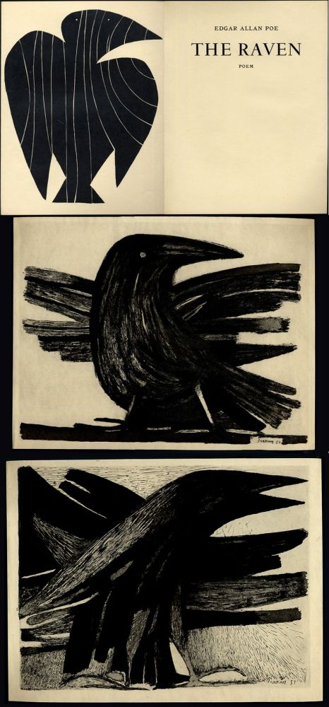 Illustrated Book Prassinos - Edgar Allan Poe. THE RAVEN