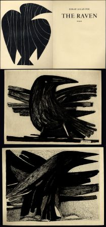 Illustrated Book Prassinos - Edgar Allan Poe. THE RAVEN