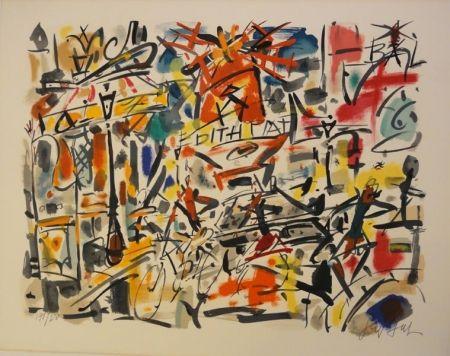 Lithograph Paul  - Edith Piaf