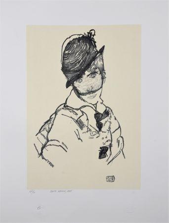 Lithograph Schiele - EDITH SCHIELE, 1915