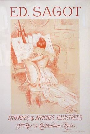 Lithograph Helleu - Editions Sagot-Estamps & Affiches Illustres