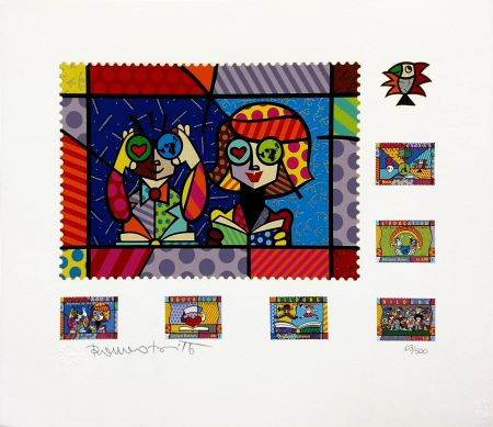 Screenprint Britto - EDUCATING THE WORLD
