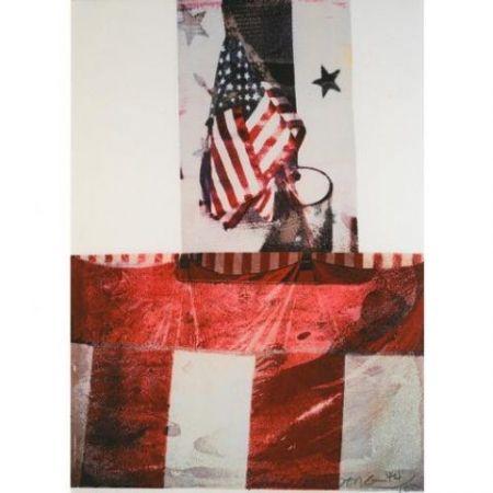 Lithograph Rauschenberg - Edward Kennedy Campaign