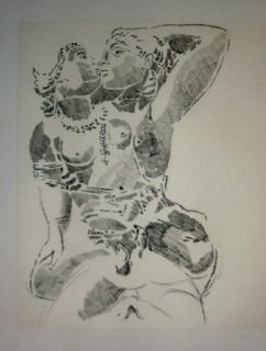 Etching And Aquatint Rouan  - Effacer la Notion 1