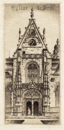 Etching Arms - Eglise de Notre Dame, Bourg-En-Bresses