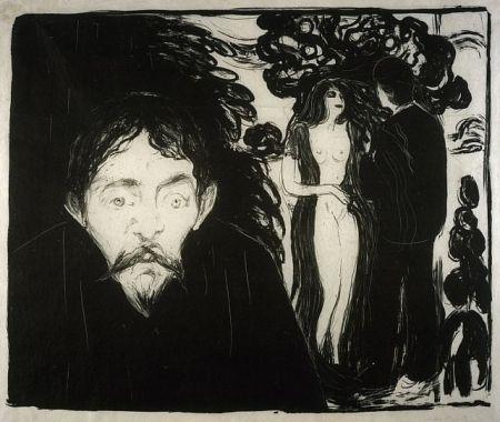 Lithograph Munch - Eifersucht (Jealousy)