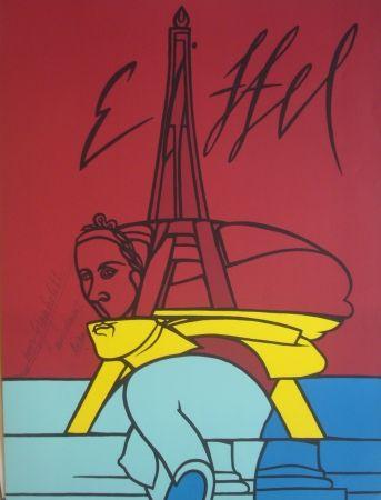 Lithograph Adami - Eiffel