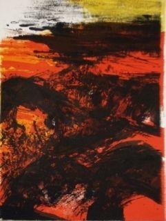 Lithograph Zao - Elégie pour Jean Marie 1