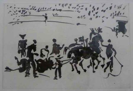 Aquatint Picasso - EL ARRASTRE