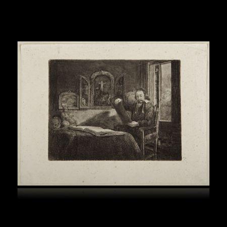Etching Rembrandt - El boticario Abraham Francen