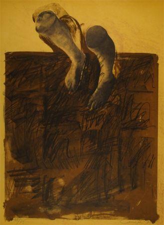 Lithograph Canogar - El caminante