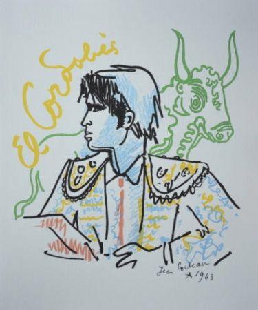 Lithograph Cocteau - El Cordobès