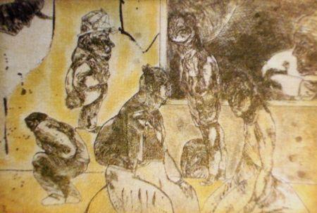 Etching And Aquatint Cuevas - El cuarto amarillo
