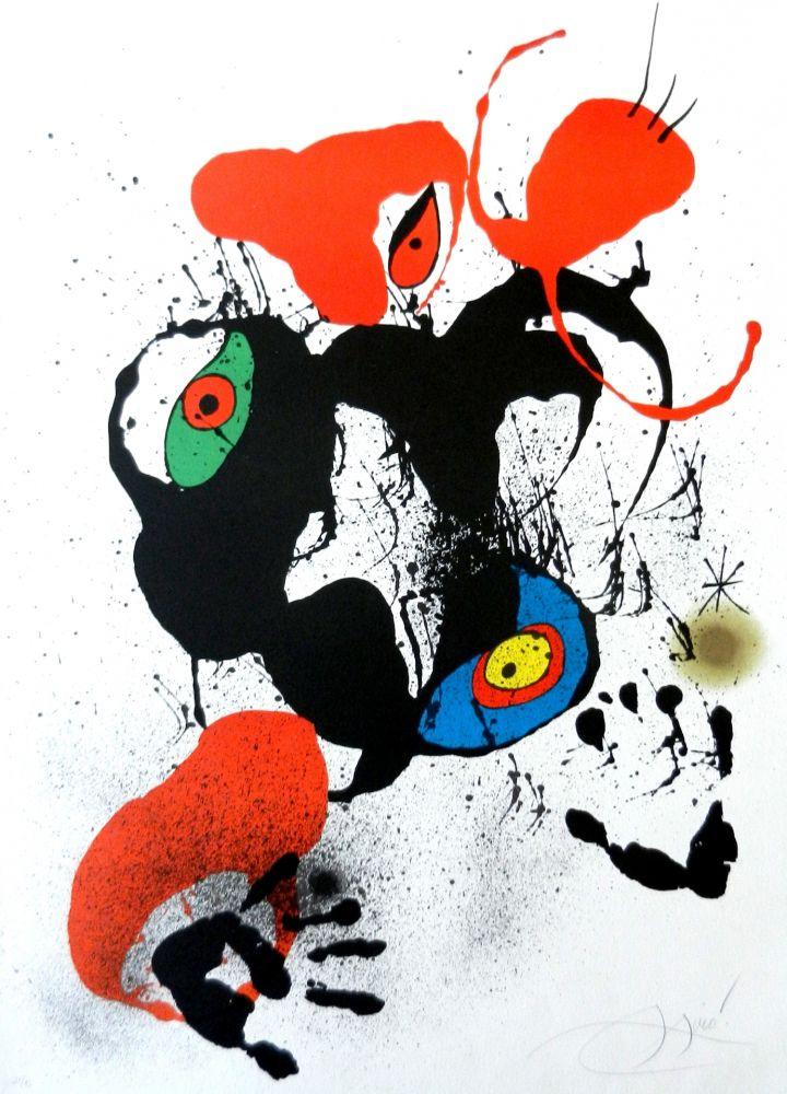 Lithograph Miró - El fogainer