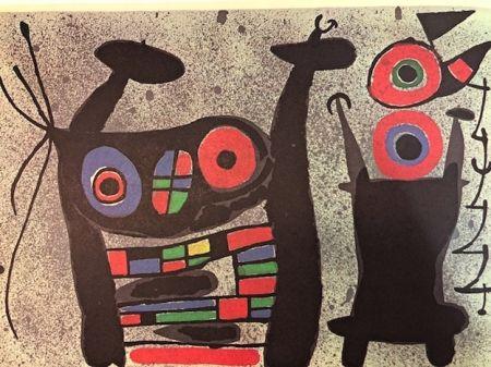 Lithograph Miró - El Lagarto De Las Plumas De Oro
