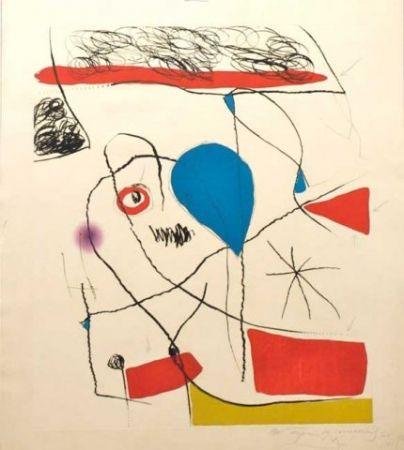 Etching And Aquatint Miró - El Pi De Formentor