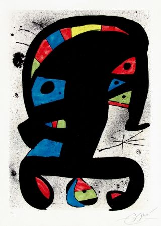 Lithograph Miró - El Rei Garrell, 1979