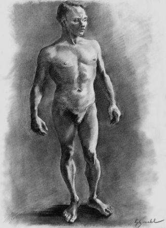 Lithograph Bonabel - ELIANE BONABEL / Louis-Ferdinand Céline - Litographie Originale / Original Lithograph - Nu Masculin / Male Nude - 1938