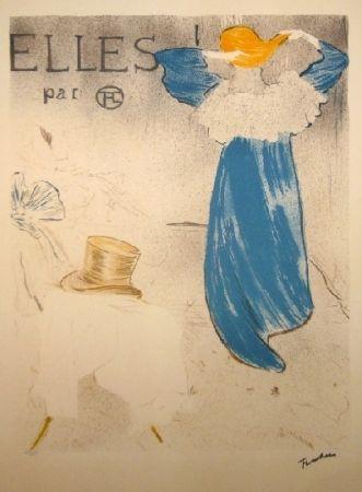 Lithograph Toulouse-Lautrec - Elles