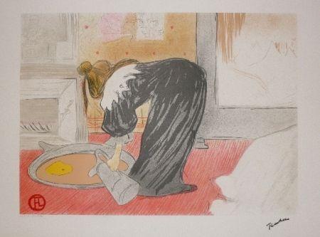 Lithograph Toulouse-Lautrec - Elles, femme au tub