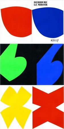 Illustrated Book Kelly - ELLSWORTH KELLY. Derrière Le Miroir n° 110. Octobre-novembre 1958. 6 LITHOGRAPHIES ORIGINALES.