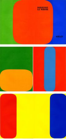 Illustrated Book Kelly - ELLSWORTH KELLY. Derrière Le Miroir n° 149. Octobre-novembre 1964. 5 LITHOGRAPHIES ORIGINALES.
