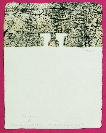 Engraving Chillida - Elogio del horizonte