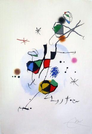 Etching And Aquatint Miró - Els Castellers
