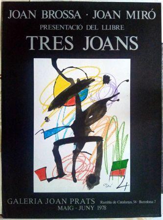 Poster Miró - Els tres Joans  - Prats - 1978