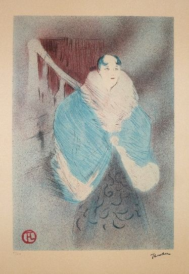 Lithograph Toulouse-Lautrec - Elsa la viennoise