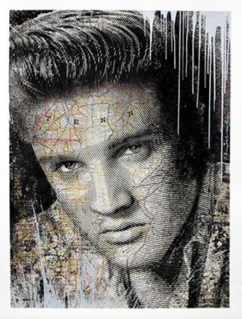 Screenprint Mr Brainwash - Elvis – King of Rock Silver