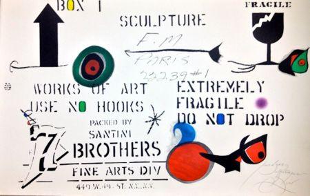 Engraving Miró - Embalaje