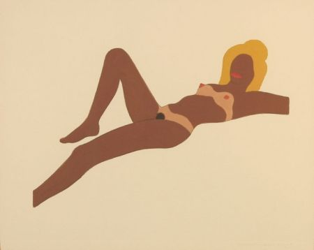 No Technical Wesselmann - Embossed Nude #8 (study for The Great American Nude)