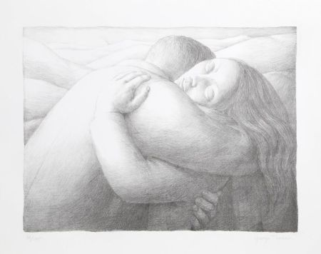 Lithograph Tooker - Embrace