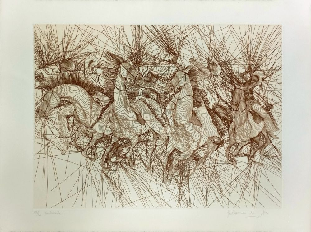 Etching Azoulay - EMBUSCADE