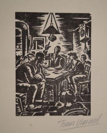 Woodcut Masereel - Emile Zola, Germinal