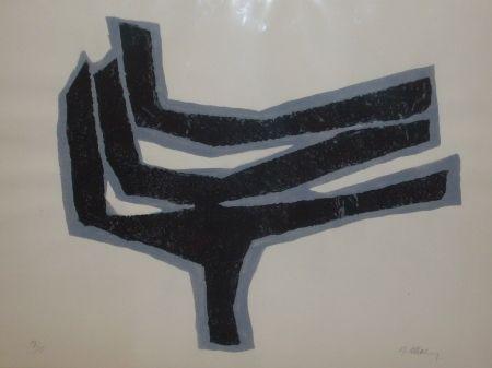 Lithograph Ubac - Empeinte ardoise